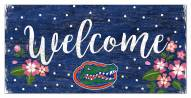 """Florida Gators 6"""" x 12"""" Floral Welcome Sign"""