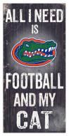 "Florida Gators 6"" x 12"" Football & My Cat Sign"