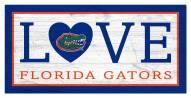 "Florida Gators 6"" x 12"" Love Sign"