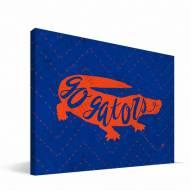 """Florida Gators 8"""" x 12"""" Mascot Canvas Print"""