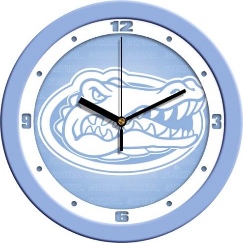 Florida Gators Baby Blue Wall Clock