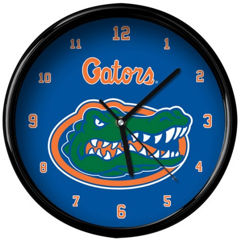 Florida Gators Black Rim Clock