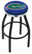 Florida Gators Black Swivel Barstool with Chrome Accent Ring