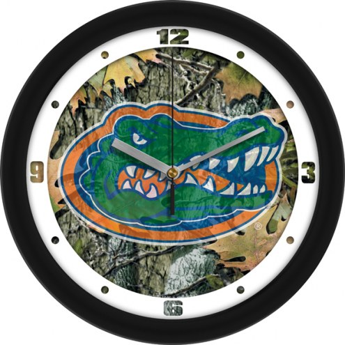 Florida Gators Camo Wall Clock