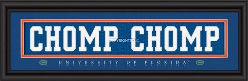 "Florida Gators ""Chomp Chomp"" Stitched Jersey Framed Print"