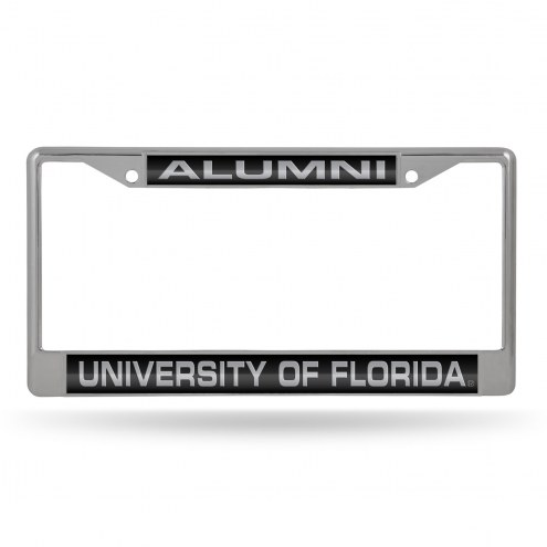 Florida Gators Chrome Alumni Black License Plate Frame