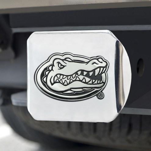 Florida Gators Chrome Metal Hitch Cover