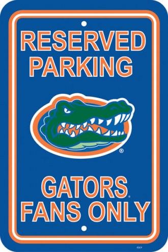 Florida Gators College Parking Sign