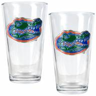 Florida Gators College 16 Oz. Pint Glass 2-Piece Set