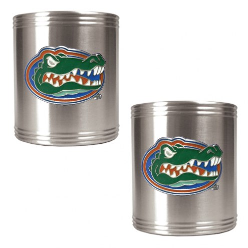 Florida Gators College Stainless Steel Can Holder 2-Piece Set