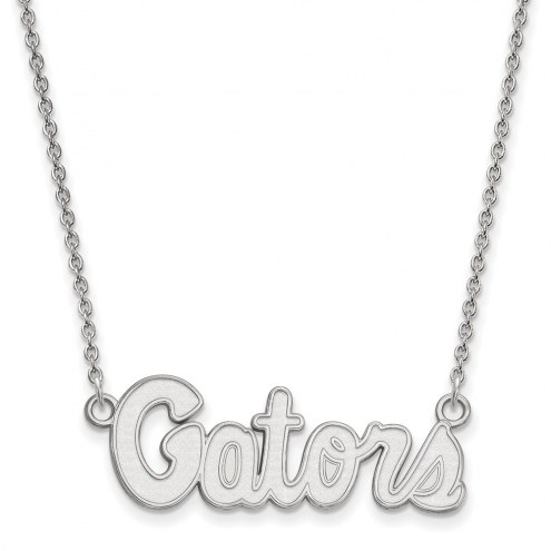 Florida Gators Sterling Silver Small Pendant Necklace