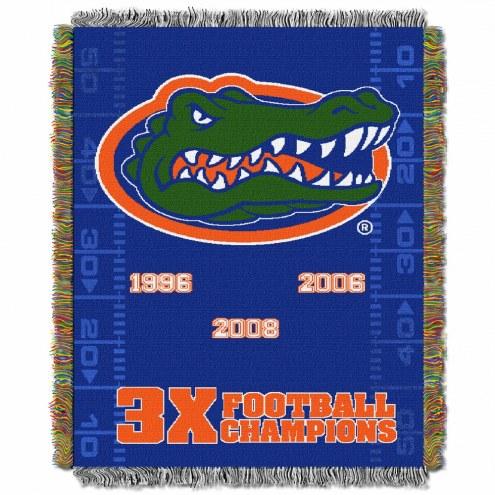 Florida Gators Commemorative Champs Throw Blanket