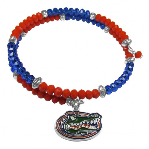 Florida Gators Crystal Memory Wire Bracelet
