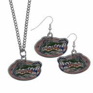 Florida Gators Dangle Earrings & Chain Necklace Set