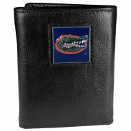 Florida Gators Deluxe Leather Tri-fold Wallet in Gift Box