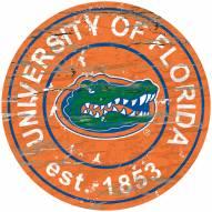 Florida Gators Distressed Round Sign
