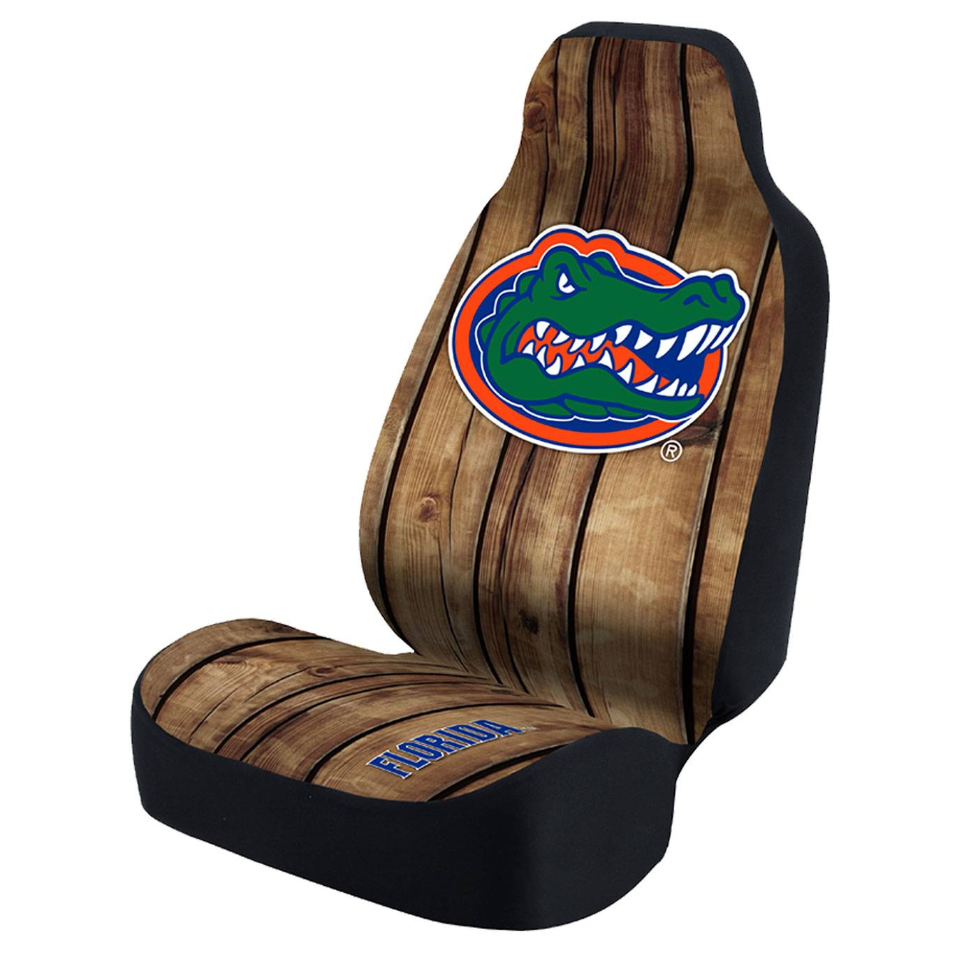 Florida Gators Distressed Wood Universal Bucket Car Seat Cover