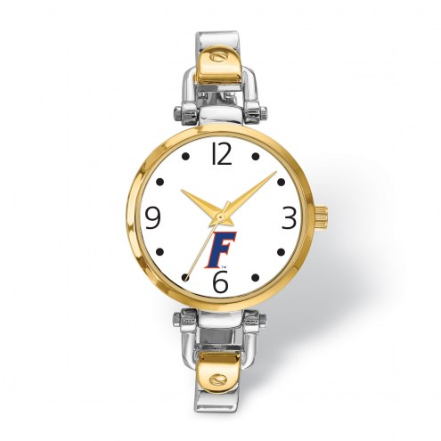 Florida Gators Elegant Ladies Two-Tone Watch
