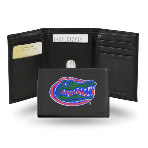 Florida Gators Embroidered Leather Tri-Fold Wallet