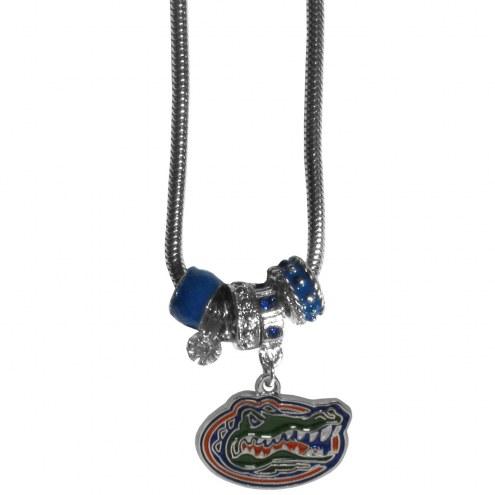 Florida Gators Euro Bead Necklace