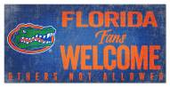 Florida Gators Fans Welcome Sign