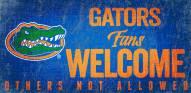 Florida Gators Fans Welcome Wood Sign