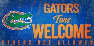 Florida Gators Fans Welcome Wood Sign