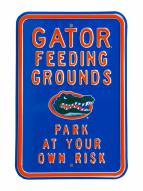 Florida Gators Feeding Grounds Parking Sign