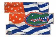 Florida Gators Flag 3 Plank Sign