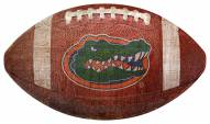 Florida Gators Football Shaped Sign