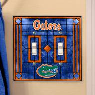 Florida Gators Glass Double Switch Plate Cover