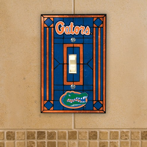 Florida Gators Glass Single Light Switch Plate Cover