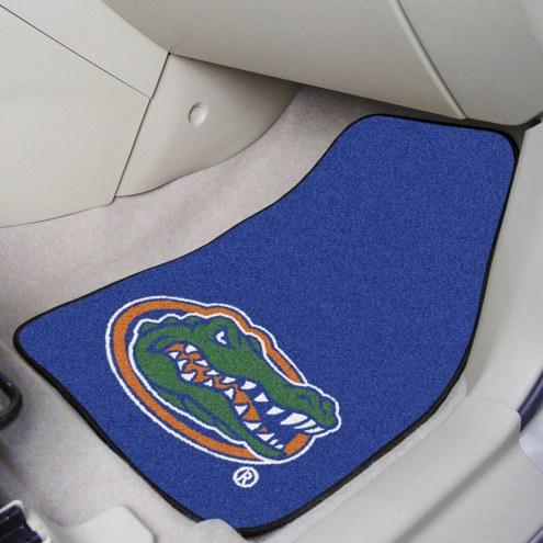 """Florida Gators """"Head"""" 2-Piece Carpet Car Mats"""