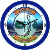 Florida Gators Home Run Wall Clock
