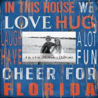 """Florida Gators In This House 10"""" x 10"""" Picture Frame"""