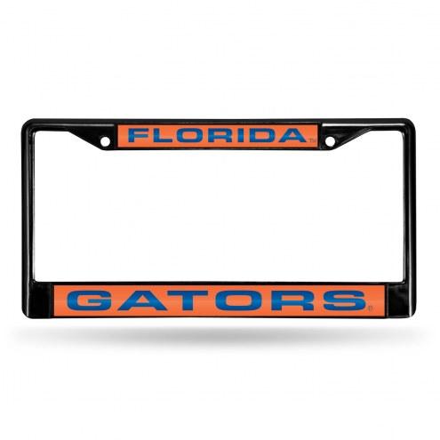 Florida Gators Laser Black License Plate Frame