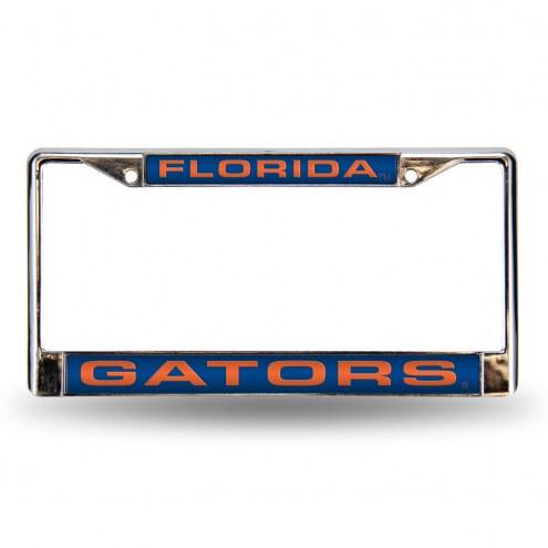 Florida Gators Laser Chrome License Plate Frame