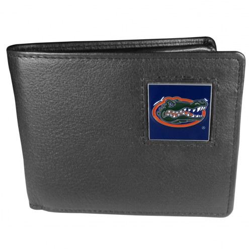 Florida Gators Leather Bi-fold Wallet in Gift Box