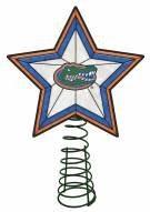 Florida Gators Light Up Art Glass Tree Topper