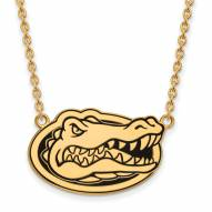 Florida Gators Sterling Silver Gold Plated Large Pendant Necklace