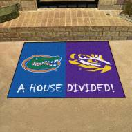 Florida Gators/LSU Tigers House Divided Mat