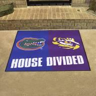 Florida Gators/LSU Tigers House Divided Mat