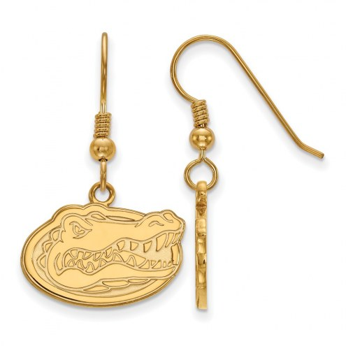 Florida Gators NCAA Sterling Silver Gold Plated Small Dangle Earrings