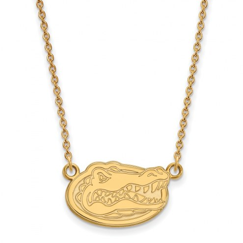 Florida Gators NCAA Sterling Silver Gold Plated Small Pendant Necklace