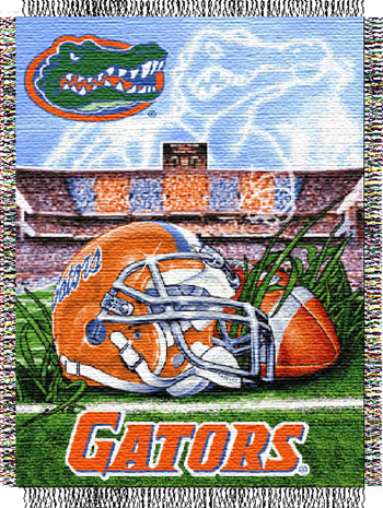 Florida Gators NCAA Woven Tapestry Throw / Blanket