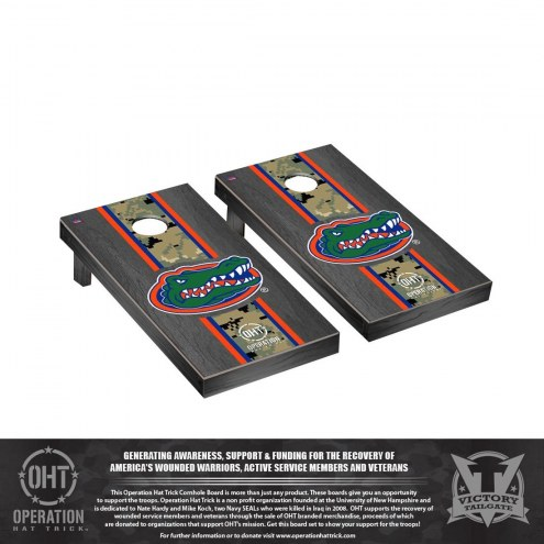 Florida Gators Operation Hat Trick Onyx Stained Cornhole Game Set