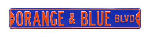Florida Gators Orange & Blue Street Sign
