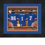 Florida Gators Personalized Locker Room 13 x 16 Framed Photograph