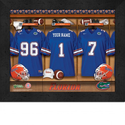 Florida Gators Personalized Locker Room 11 x 14 Framed Photograph