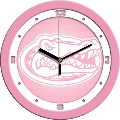 Florida Gators Pink Wall Clock